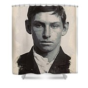 Young Faces From The Past Series By Adam Asar - Asar Studios, No 3 Shower Curtain