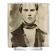 Young Faces From The Past Series By Adam Asar, No 101 Shower Curtain