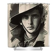 Young Faces From The Past Series By Adam Asar, No 104 Shower Curtain