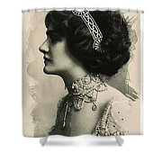 Young Faces From The Past Series By Adam Asar, No 105 Shower Curtain