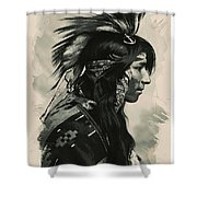 Young Faces From The Past Series By Adam Asar, No 108 Shower Curtain