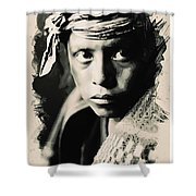 Young Faces From The Past Series By Adam Asar, No 109 Shower Curtain