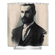 Young Faces From The Past Series By Adam Asar, No 113 Shower Curtain