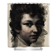 Young Faces From The Past Series By Adam Asar, No 116 Shower Curtain
