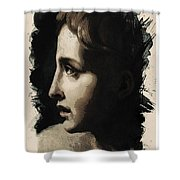 Young Faces From The Past Series By Adam Asar, No 117 Shower Curtain