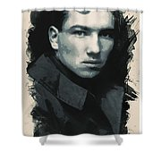 Young Faces From The Past Series By Adam Asar, No 33 Shower Curtain