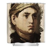 Young Faces From The Past Series By Adam Asar, No 36 Shower Curtain