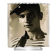 Young Faces From The Past Series By Adam Asar, No 39 Shower Curtain