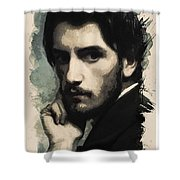 Young Faces From The Past Series By Adam Asar, No 43 Shower Curtain