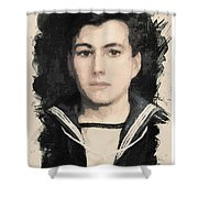 Young Faces From The Past Series By Adam Asar, No 48 Shower Curtain