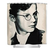 Young Faces From The Past Series By Adam Asar, No 60 Shower Curtain