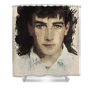 Young Faces From The Past Series By Adam Asar, No 61 Shower Curtain