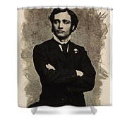 Young Faces From The Past Series By Adam Asar, No 65 Shower Curtain