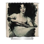 Young Faces From The Past Series By Adam Asar, No 70 Shower Curtain