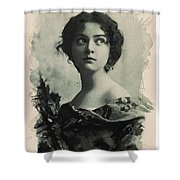 Young Faces From The Past Series By Adam Asar, No 82 Shower Curtain
