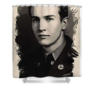 Young Faces From The Past Series By Adam Asar, No 89 Shower Curtain