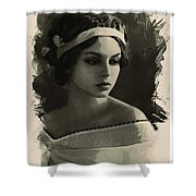 Young Faces From The Past Series By Adam Asar, No 92 Shower Curtain