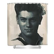 Young Faces From The Past Series By Adam Asar, No 94 Shower Curtain