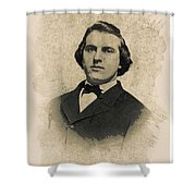 Young Faces From The Past Series By Adam Asar, No 99 Shower Curtain