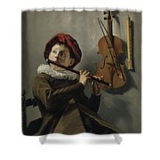 Young Flute Player , Judith Leyster, 1630 Shower Curtain
