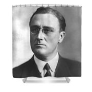 Young Franklin Delano Roosevelt Shower Curtain by War Is Hell Store