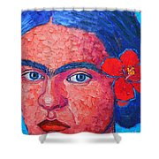 Young Frida Kahlo Shower Curtain