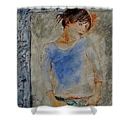 Young Girl 451120 Shower Curtain