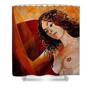 Young Girl  5641 Shower Curtain