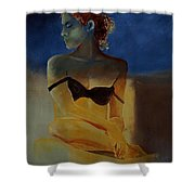 Young Girl  56902140 Shower Curtain