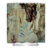 Young Girl  64 Shower Curtain