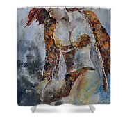 Young Girl 670508 Shower Curtain
