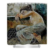 Young Girl  679050 Shower Curtain