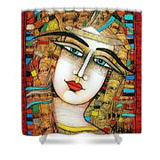 Young Girl Shower Curtain