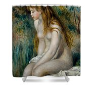 Young Girl Bathing, 1892 Shower Curtain