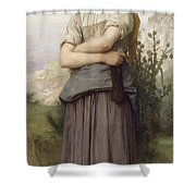Young Girl, By William-adolphe Bouguereau Shower Curtain
