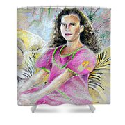 Young Girl From Tahiti Shower Curtain