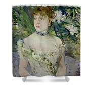 Young Girl In A Ball Gown Shower Curtain