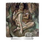 Young Girl In An Armchair Shower Curtain