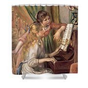 Young Girls At The Piano Shower Curtain