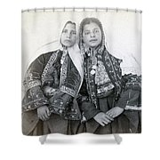 Young Girls Of Bethlehem Year 1896 Shower Curtain