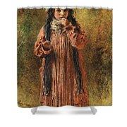 Young Gypsy By Konstantin Makovsky Shower Curtain