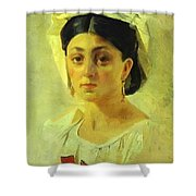 Young Italian Woman In A Folk Costume Study Shower Curtain