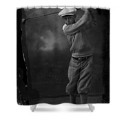 Young Knickerbocker Golfer Shower Curtain