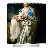 Young Lady And The Baby Shower Curtain