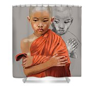 Young Lama Shower Curtain