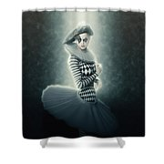 Young Lunar Pierrette Shower Curtain