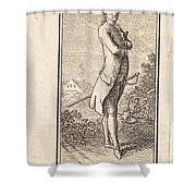 Young Man Bareheaded, With Sword Shower Curtain