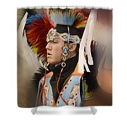 Pow Wow Young Man Shower Curtain