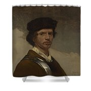 Young Man In A Fur Cap Shower Curtain