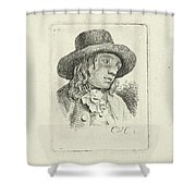 Young Man With Hat Shower Curtain